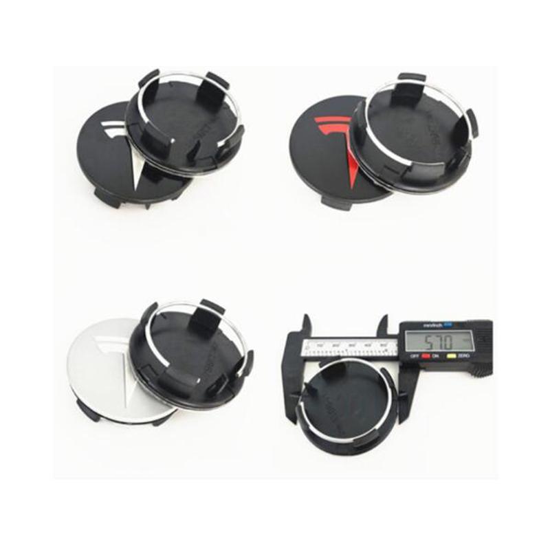 새로운 20PCS 외경 57mm TESLA 모델 X S 3 XWC1385-01 휠 센터 캡 커버 엠블럼 로고 배지 자동차 액세서리