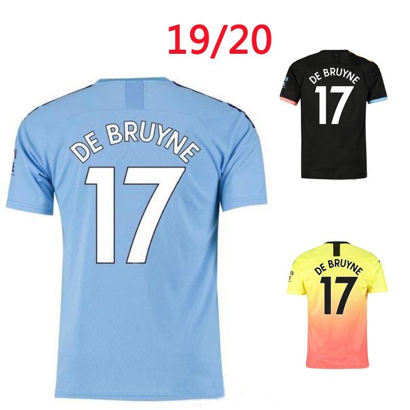 Man KUN AGUERO STERLING City soccer Jersey DE BRUYNE Sane 2019 2020 G JESUS MAHREZ SILVA CANCELO Shirt top thai quality jerseys