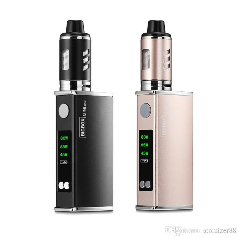 Top qualité bigBOX Mini 80W Kits Starter Box Mod 2200mAh Build-en batterie E Cig LED Big Vape Vaporizer Hookah vapeur Cigarettes 7264991