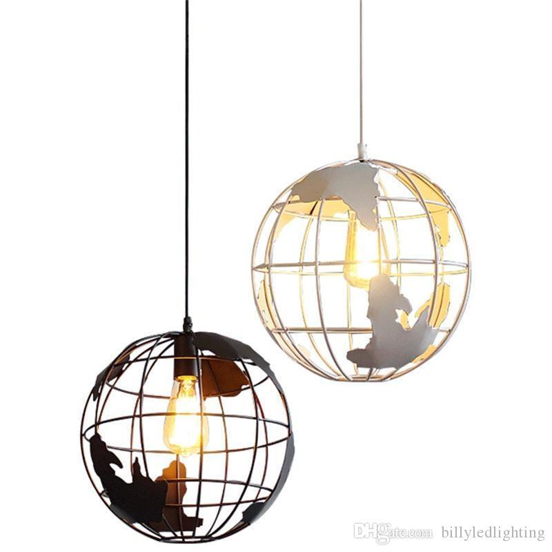 lustre restaurant nordique simple, porche allée bar étude moderne personnalité de fer globe lampes créatives
