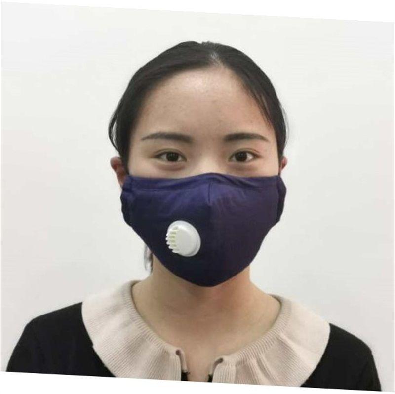 Adulti antipolvere Mask Mascherine sostituire il filtro piastra esterna Bocca maschere per il viso con la respirazione Respiratori valvola 7 2SM UU