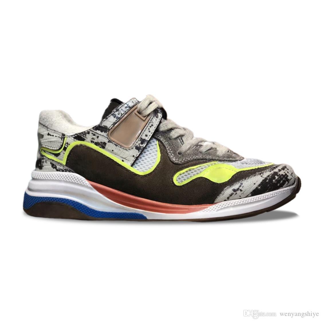 2019 outono e inverno novo impermeável cor exterior Matching Old Lagarto couro Sports Shoes homens e mulheres com os mesmos sapatos