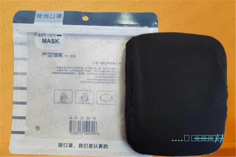 DHL Gesichtsmaske Frühling Sommer 2 Schichten Modal Baumwolle Maske Ultraviolett-proof Atmungsaktiv Waschbar Anti-Staub Mund-Muffel mit Single Pack D42008
