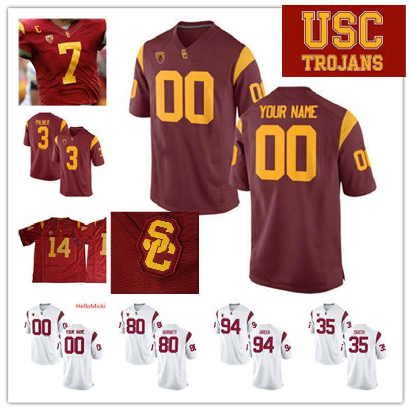 Custom USC Trojans Football Jersey Ronald Jones II Carson Palmer Deontay Burnett Bruce Matthews Clay Matthews Mike Rozier USC Trojans Jersey
