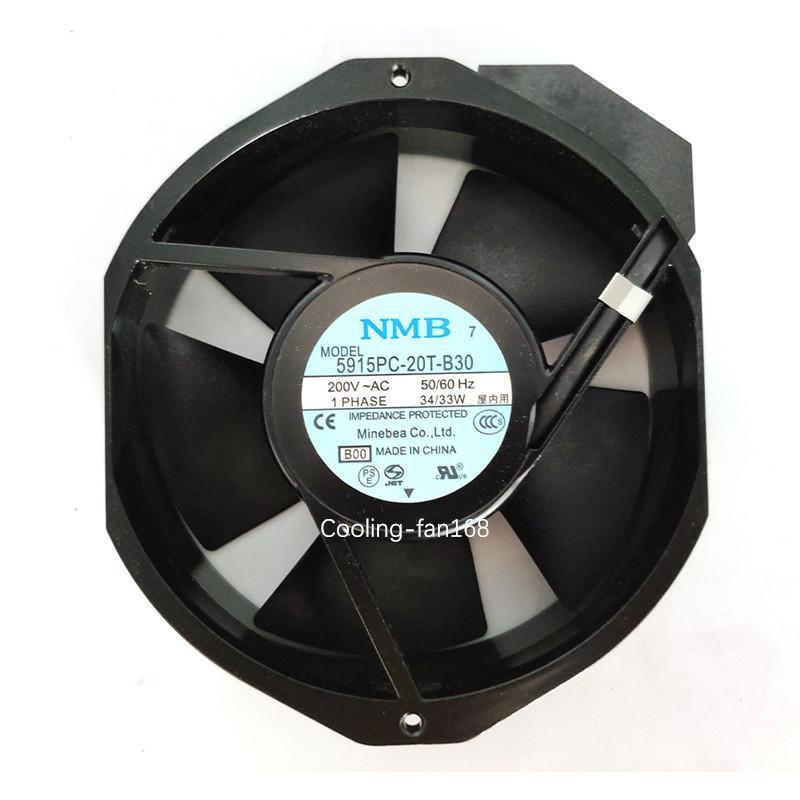NMB-MAT 5915PC-20T-B30 B00 переменного тока 200V 34 / 33W 172 * 150 * 38MM ИБП шкафа вентилятор охлаждения