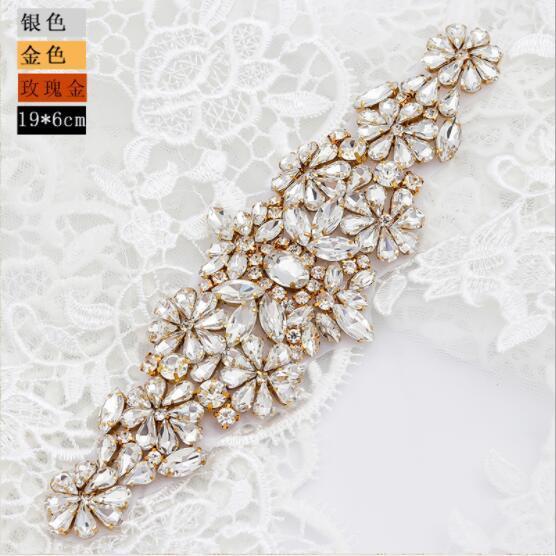2020 الصرفة فاخرة اليدوية الراين جميل الشارات العروس حزام العروس مجوهرات الماس عبر الحدود الساخن بيع الزفاف وشاح