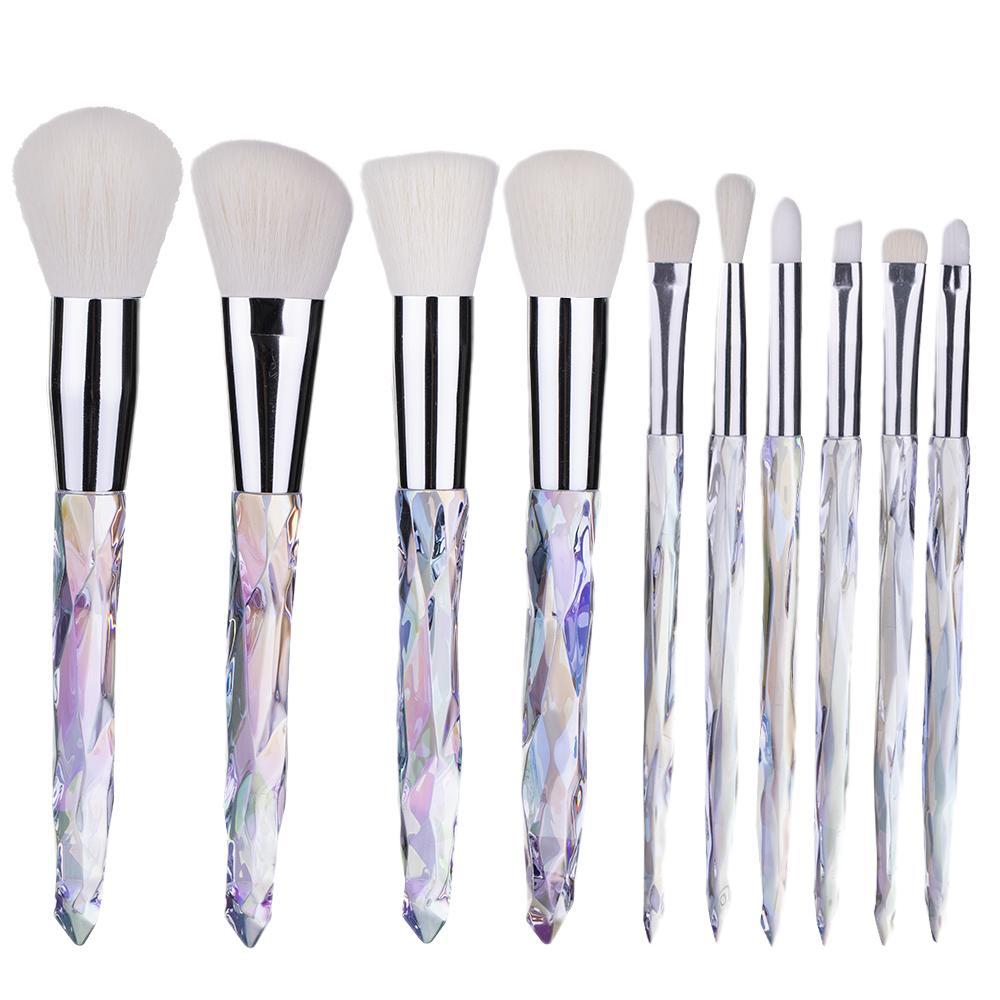Fırça Aracı yukarı 10pcs kaliteli Makyaj Fırça Elmas Kol Fırçalar Seti Kozmetik Allık Pudra Fondöten Göz Farı Dudak Kaş Yüz Makyaj