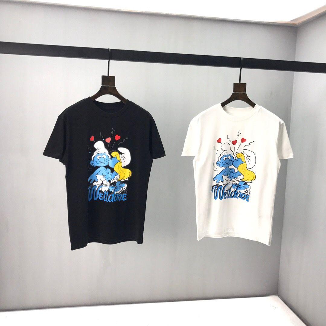 20SS Nueva lujo de los hombres de la camiseta ocasional de la camiseta del O-Cuello de los hombres de moda de manga corta Tamaño de la ropa s-2xl