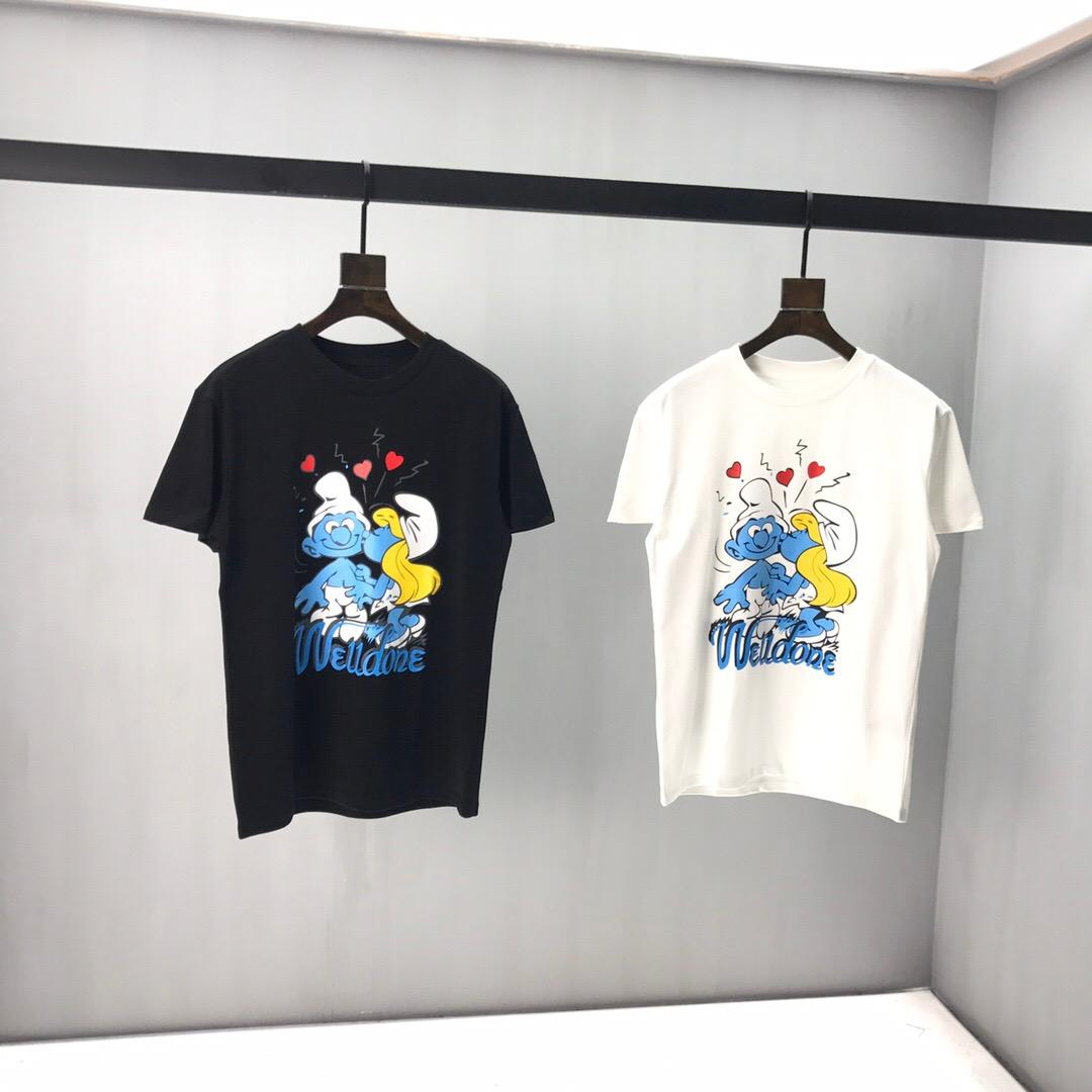 T-shirt dos homens 20SS Novo Luxo T-shirt dos homens de O-Neck Casual Homens de manga curta Moda tamanho Vestuário s-2xl
