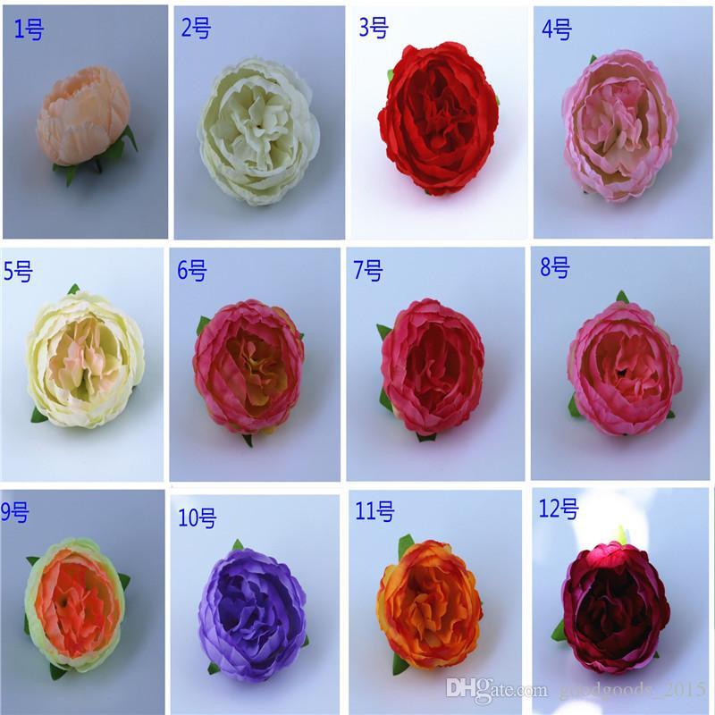 simulation of artificial silk flowers flower heads home garden decoration DIY wedding wreath box background