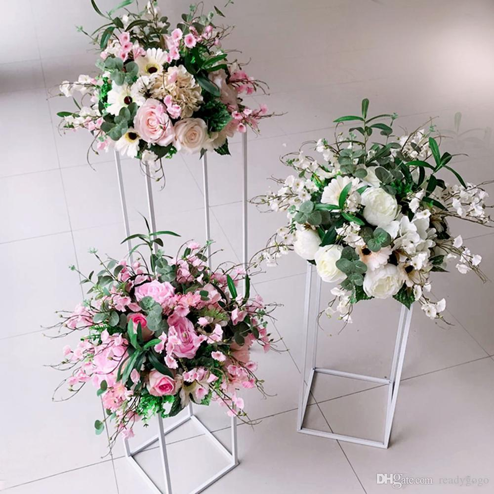 Tall Gold Floor Vases Brief Flower Stand Metal Road Lead Wedding Centerpiece For Event Party Home Decoration Beach Wedding Decorations Ideas Budget Wedding Decorations From Readygogo 25 13 Dhgate Com