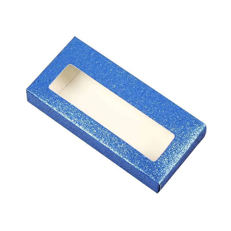 20pcs estuche de almacenamiento portátil compacto de pestañas de papel a prueba de polvo Herramientas vacío Inicio maquillaje cosmético de accesorios de embalaje personalizado