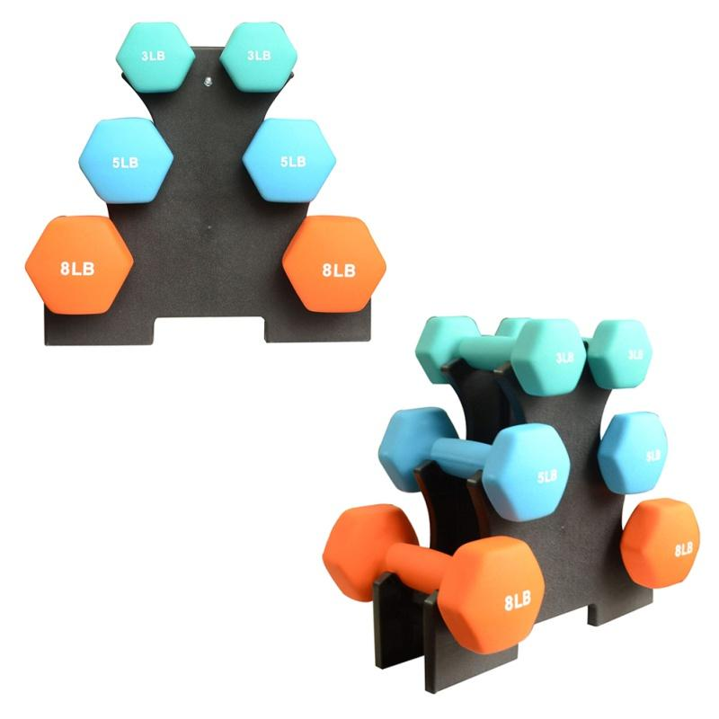 1PC Useful Dumbbell Bracket Triangle Small Leaves Big Leaves Different Shapes Dumbbell Bracket Fitness Equipment Accessories