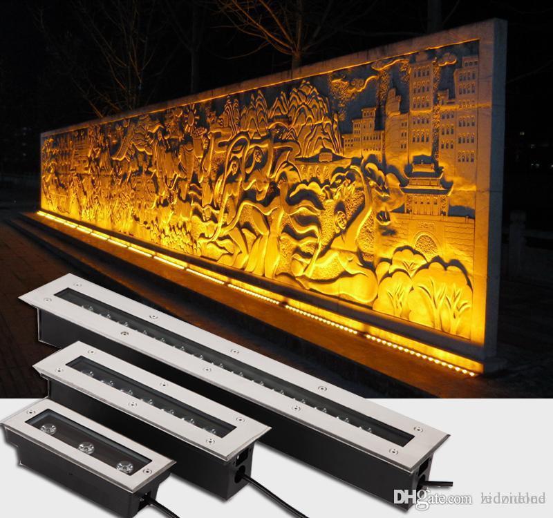 Водонепроницаемый Ground Light Открытый Сад этаж Свет Светодиодные огни лестницы под землей Встраиваемый Yard Шайба стены AC85-265V 12V