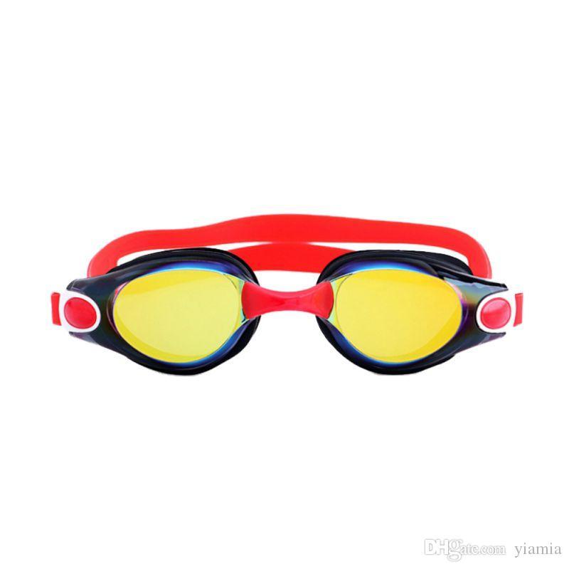 HD نظارات السباحة الكبار اكسسوارات السباحة نظارات السيدات طلاء مقاوم للماء الضباب نظارات شفافة