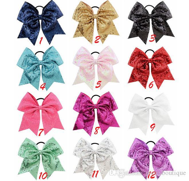 8 인치 쇳조각 거품 헤어 활 부티크 로프 어린이 머리핀 머리띠 리본 탄성 헤어 여자 빙 Bowknot 액세서리 A102