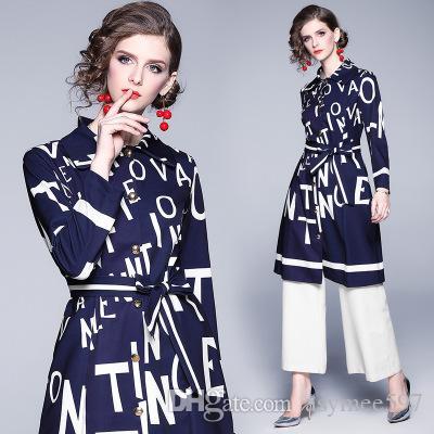2021 Automne et hiver, trenchers de la mode élégante élégante, lettres de beauté imprimantes manteaux de dame, belles loisirs de gurl