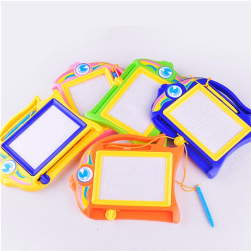 Colorido magnéticos juguetes tablero de dibujo tablero de dibujo de dibujos animados Los niños tablero de escritura magnético de la mano de pintura educación temprana del bebé del juguete del niño del bebé