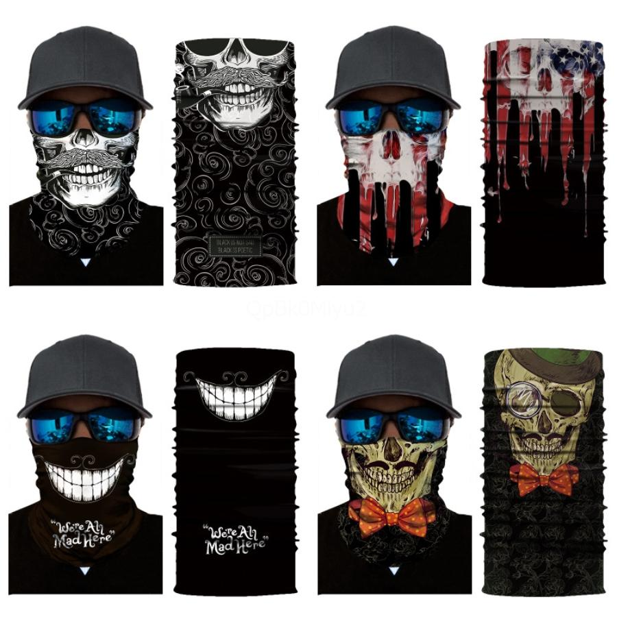 2020 Sıcak Satış Unisex 3D Sihirli Çok Fonksiyonlu Borulu Sorunsuz bandanas Kafa Kafatası Eşarp Bisiklet Yüz # 666 # 680 Boyun tozluk Yürüyüş C Maske