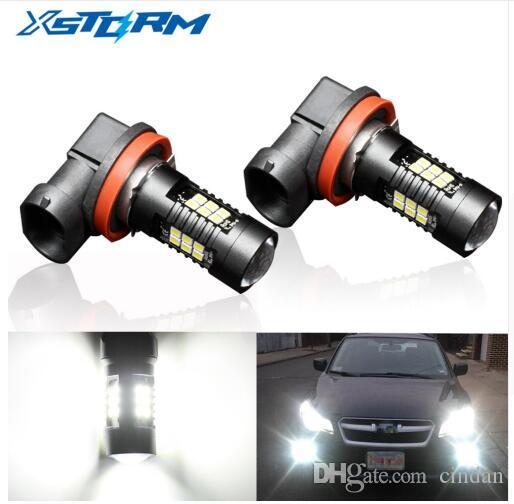 2pcs H8 H11 주도 HB4 9006 HB3 9005 안개 조명 전구 3030SMD 1200LM 6000K 화이트 자동차 운전 실행 램프 자동 Leds 라이트 12V