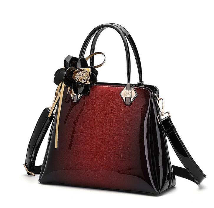 Designer New Painted Bright Face Damen-Umhängetasche Edle Handtasche Blumen Allmähliche Veränderung Atmosphärische One-Shoulder Oblique Straddle Bag