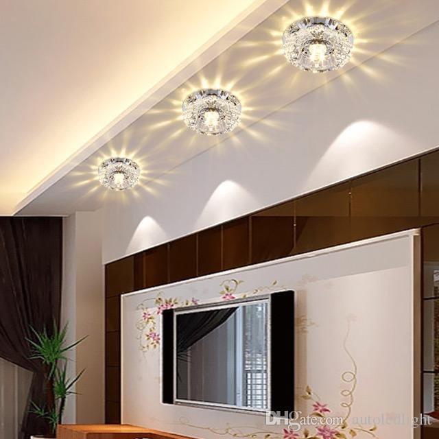 Crystal Modern 3W 5W Aisle LED ceiling lamp living room crystal corridor spotlights aisle Ceiling lights LED Ceiling Lights chandelier light