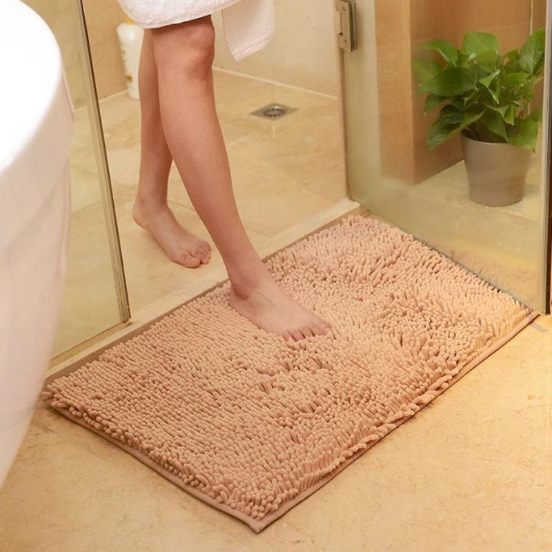 Não derrapante Tapete de Banho Casa de Banho Tapete absorvente Bath Mats macia Banho Mats Shower Tapetes Tapetes Capacho de Cozinha Varanda Corredor