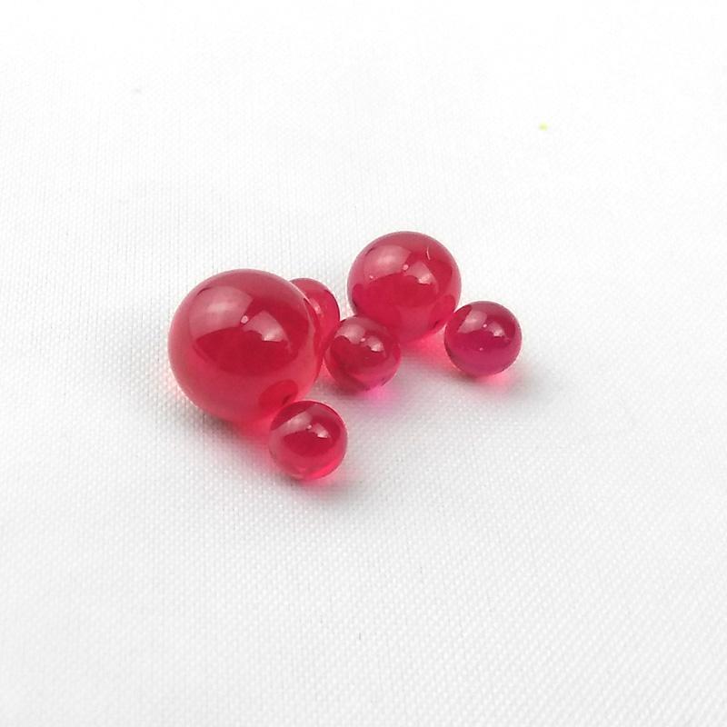 Nueva 4mm 6mm 8mm Rubí Terp perlas de perlas Dab Insertar Herramientas fumadores para tuberías borde biselado cuarzo Banger Uñas de cristal Bongs Dab Rigs Agua