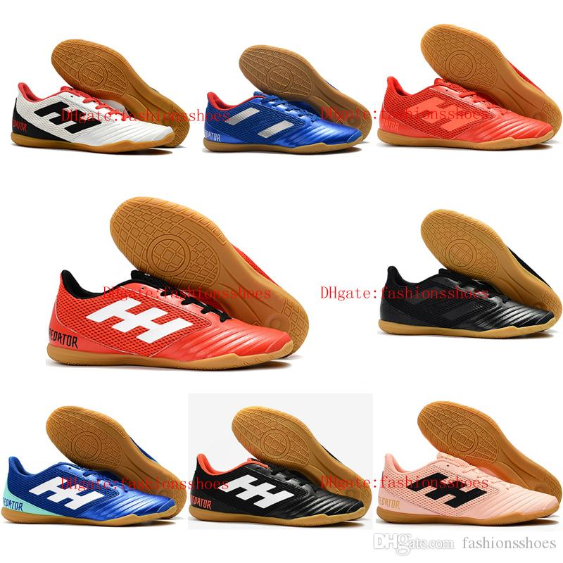 2018 الجلود لكرة القدم المرابط بريداتور 19.4 في بيع أحذية كرة القدم رجالي داخلي الأشرطة دي كرة القدم أحذية بريداتور 19 رخيصة بوتاس دي فوتبول