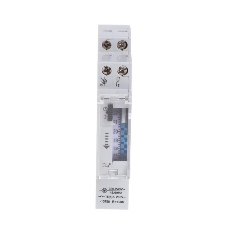 Mechanical 24 Hours Programmable Din Rail Timer Switch Relay 110-240V 16A Drop Ship Support