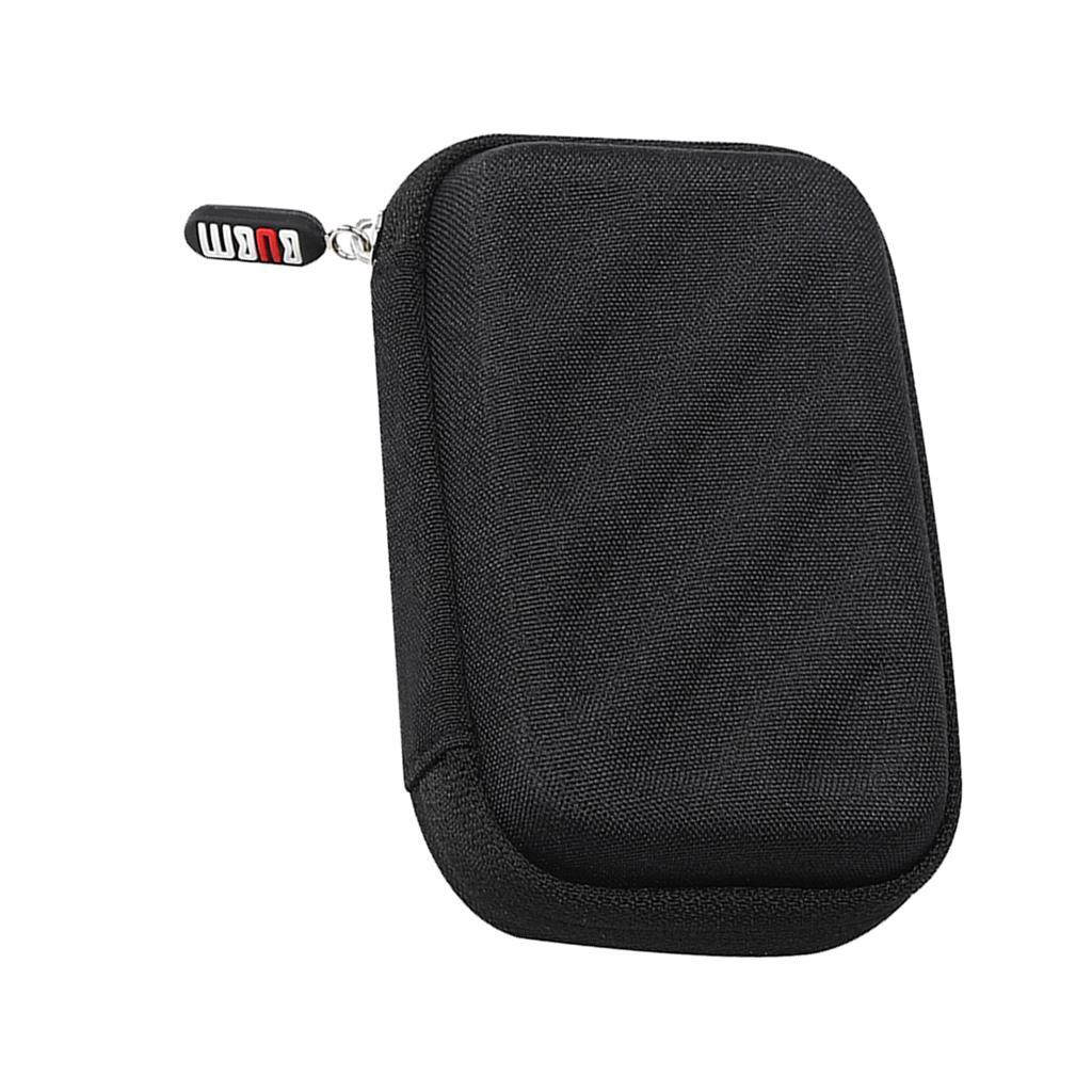 Portátil de viaje a prueba de golpes Estuche duro de la bolsa del bolso botón de los auriculares