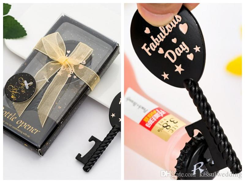 (10 pièces / lot) faveur de mariage pour les invités de bouteille design Ballon Air ouvre-cadeau pour Party douche nuptiale Favors et souvenirs