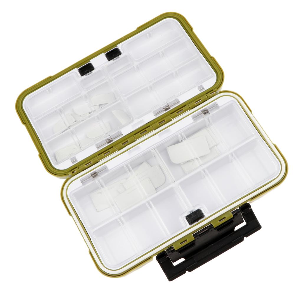 Premium Waterproof Plastic Pesca Ganchos iscas de Bait Tackle Box armazenamento caso Organizer - B Tipo