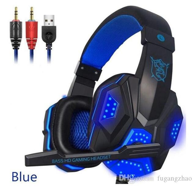 New Game Headset Wired Gamer headphones Stereo Sound Over Ear earphones with Mic and LED Light for Computers Headphones