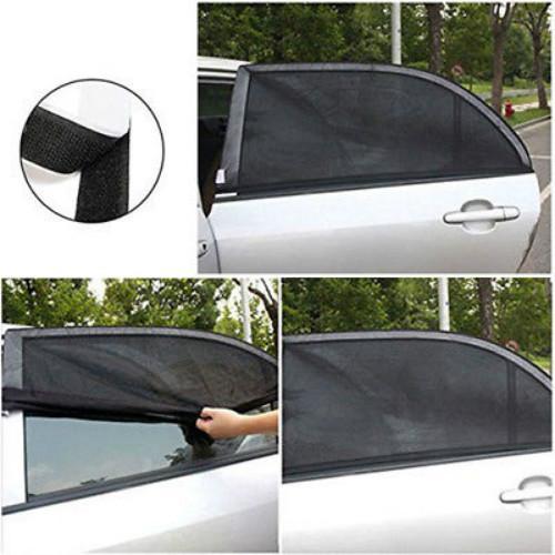 2X السيارة الخلفي بجانب النافذة الأشعة فوق البنفسجية حامي الشمس قناع الظل يتناغم غطاء درع مظلة