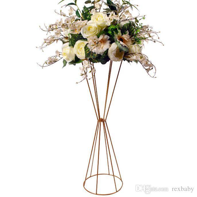 زهرة المزهريات الكلمة المعادن زهرية النبات الزهور المجففة حامل زهرة وعاء الطريق الرصاص كوبية للمنزل / عرس زخرفة الممر