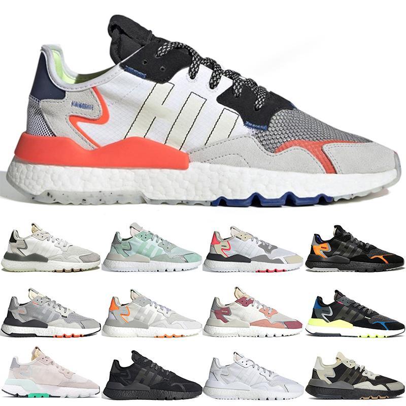 Adidas Nite Jogger 3M Chaussures de course Nite Jogger mode Sport Marque Blanc Gris RedBlack orange de luxe de chaussures de sport pour hommes femmes 36-45