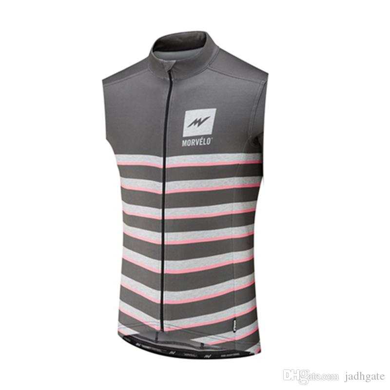 Morvelo team Cycling Sleeveless jersey Vest Breathable Quick Dry Polyester New Outdoor bicycle quality summer clothing mens U62959