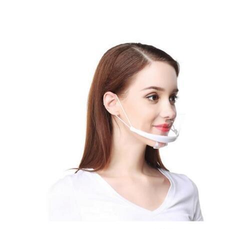 Прозрачная маска продуктов питания и напитков службы отеля повар анти туман пластиковая улыбка анти туман кухня санитарные маски Доклад GD122