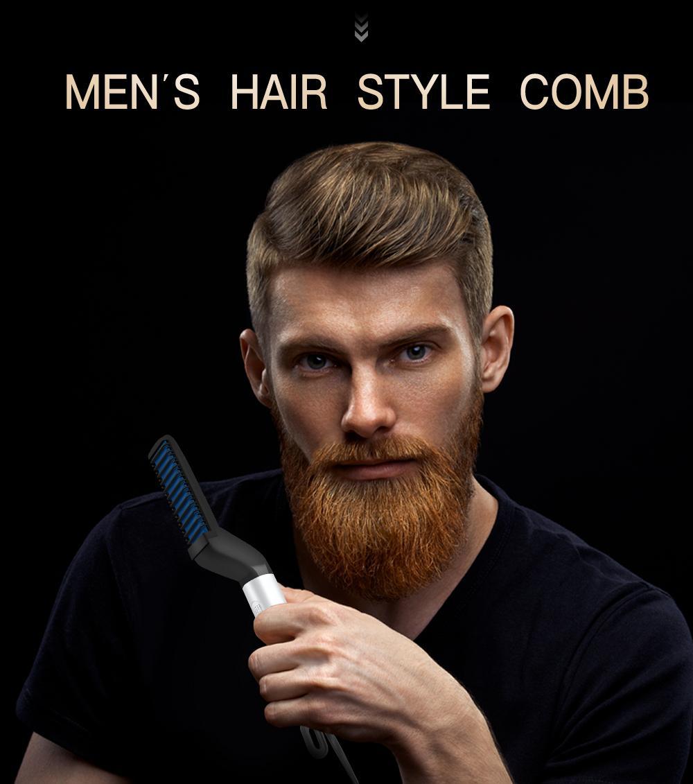 Çok Fonksiyonlu Sakal Tarak Erkekler Modelleme Kadınlar Kıllar Bigudi Metal EDC Saç Düzleştirici Siyah beyaz The New Ücretsiz Kargo