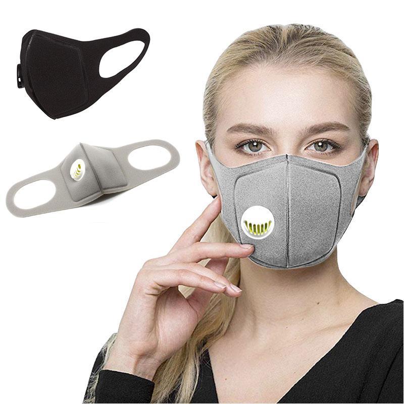 أقنعة الأزياء الإسفنج الوجه الغبار قناع PM2.5 التلوث نصف الفم مع تعديل حزام وأقنعة للتنفس صمام للجنسين حزب التنفس