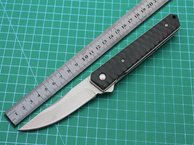 Высокое Качество D2 Стали Самурай Складной Нож Открытый Отдых Охота Охотничий Нож Камень Стиральная Water Drop Edge EDC Портативный Нож Выживания