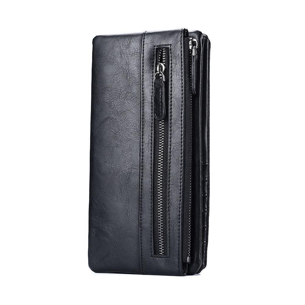 Vertical portafogli long double zip Portafoglio enorme titolare della carta di credito con capacità di tasca del telefono nylonhasp portafoglio CH30