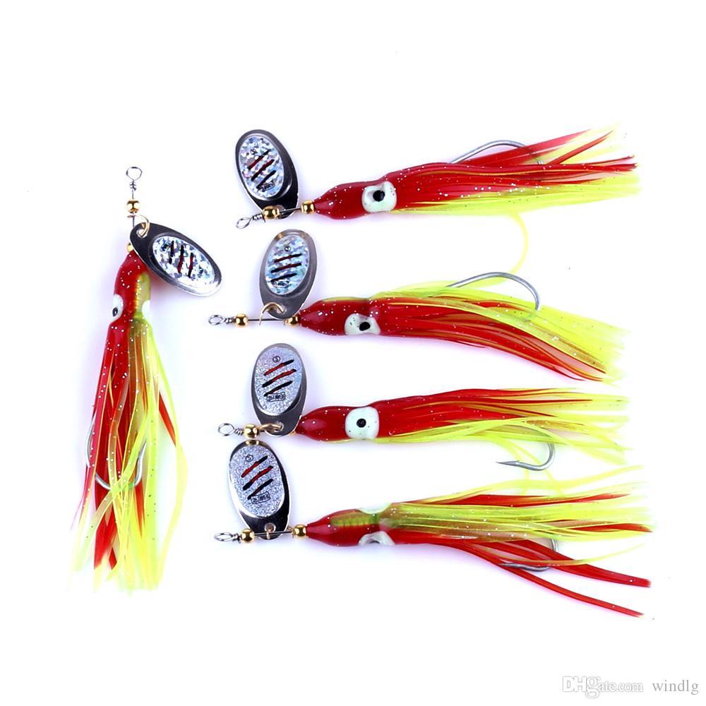 15 шт. Мягкий осьминог замена юбки 7.5 г полностью световой кальмар буровые установки троллинг приманки рыбалка спиннер приманки (SP026)