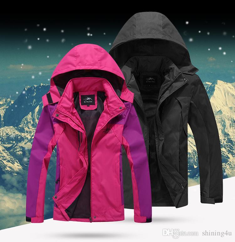Hommes Camping Hoodies Unisexe Sport Veste En Plein Air Athlétique Vêtements de Plein Air Monocouche Imperméable Coupe-Vent Mode Montagne Hoodies