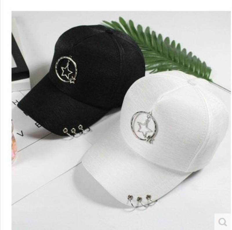 soleil d'été femme pendentif anneau Hat baseball étoile à cinq branches Harajuku marée cap tout match