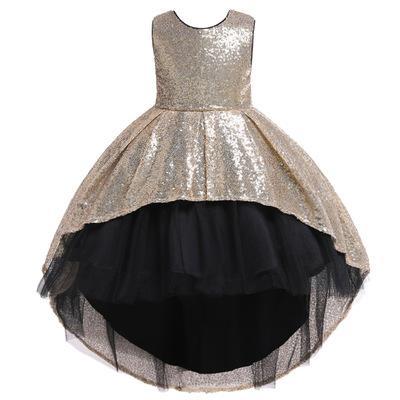 2020 lange Weste Stil rückenfrei einfach gut aussehende Mode Schmetterling handgemachte Blume peng peng Rock Host Mädchen Klavierspiel Kleid