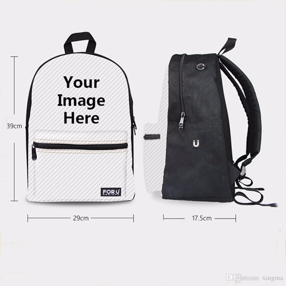 Wholesale- Cute Women Backbag 3D Animal Backpacks Cat Printing School Bagpack for Girls Students Children's School Laptop Backpack