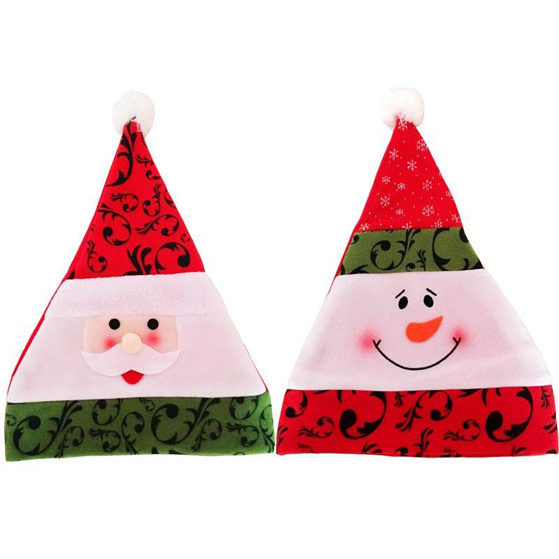 10 Pcs Santa Claus Snowman Christmas Hats for Adult Children Xmas Merry Chiristmas Party Supplies Hats Decorations for Home 2018