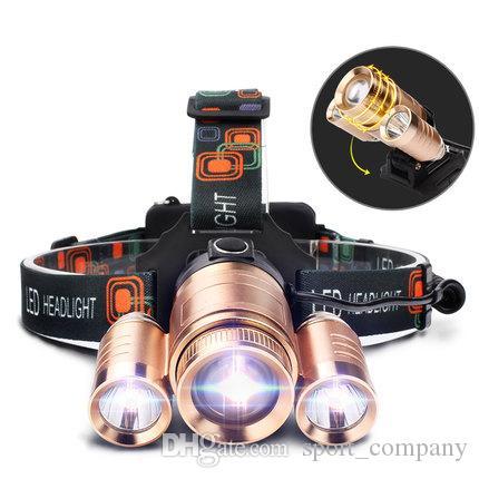New 3000Lumens T6 LED Headlamp Zoomable Headlight Ultra Bright 3 Lighting Modes Fishing Torch Head Lamp Bike Front Light Waterproof